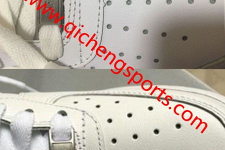 续:全白空军一号真假鞋细节对比