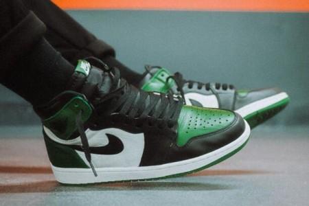 AJ1黑绿脚趾555088-302发售预告及市售版本对比