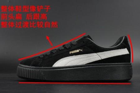 知识普及:顶级版本PUMA蕾哈娜板鞋细节分析