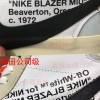 OW X Blazer板鞋AA3832-100对比鉴定教程