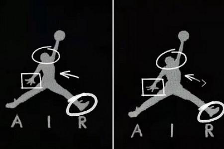 Jumpman飞人裤子刺绣标对比差异