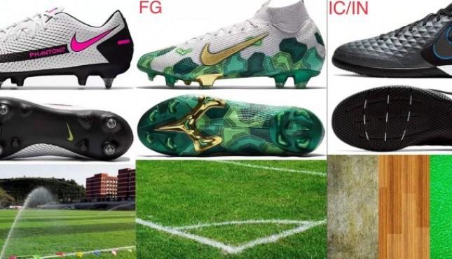 足球鞋小知识:区分打底代码适用场地
